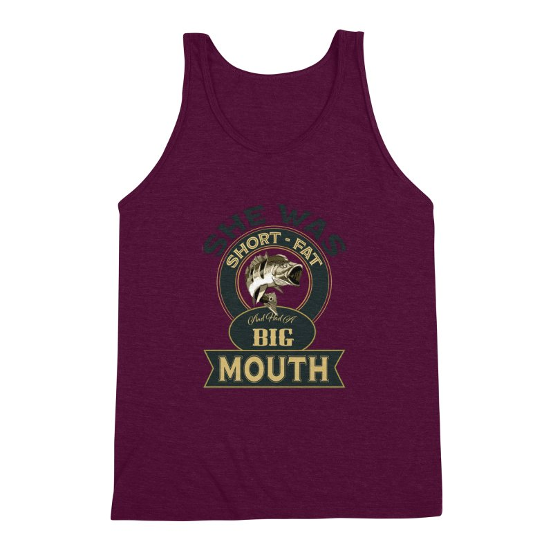 Big Mouth Bass Men's Triblend Tank by psweetsdesign's Artist Shop