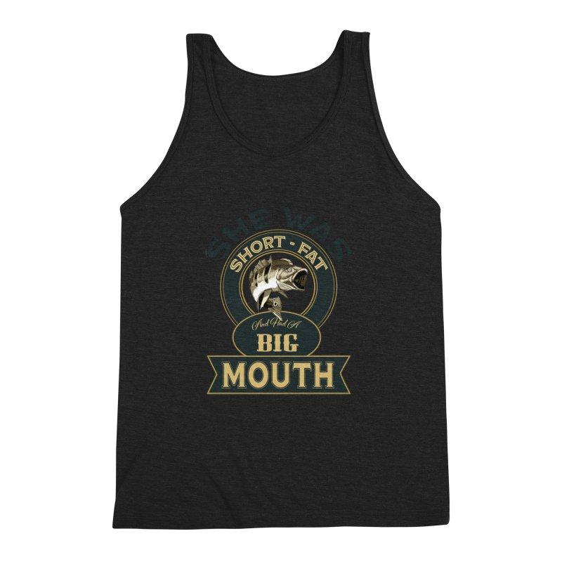Big Mouth Bass Men's Triblend Tank by psweetsdesign's Artist Shop