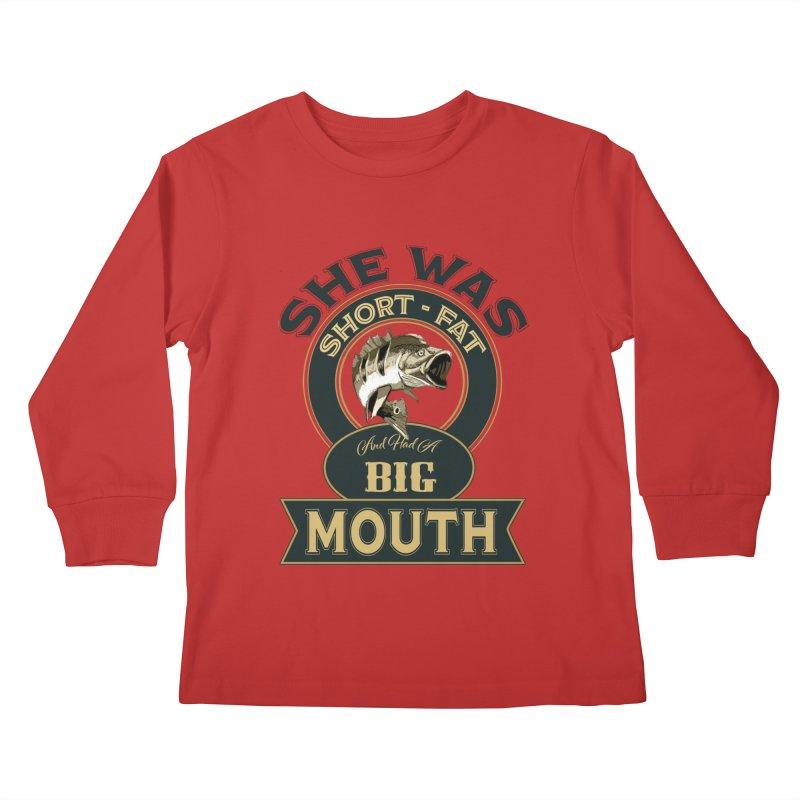 Big Mouth Bass Kids Longsleeve T-Shirt by psweetsdesign's Artist Shop