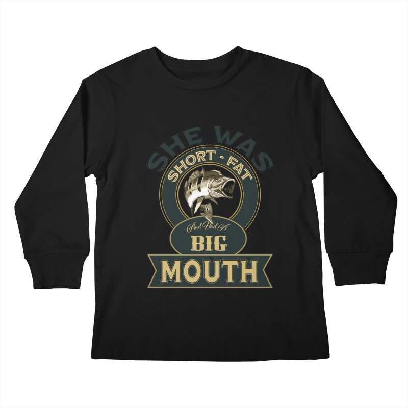 Big Mouth Bass Kids Longsleeve T-Shirt by psweetsdesign's Artist Shop