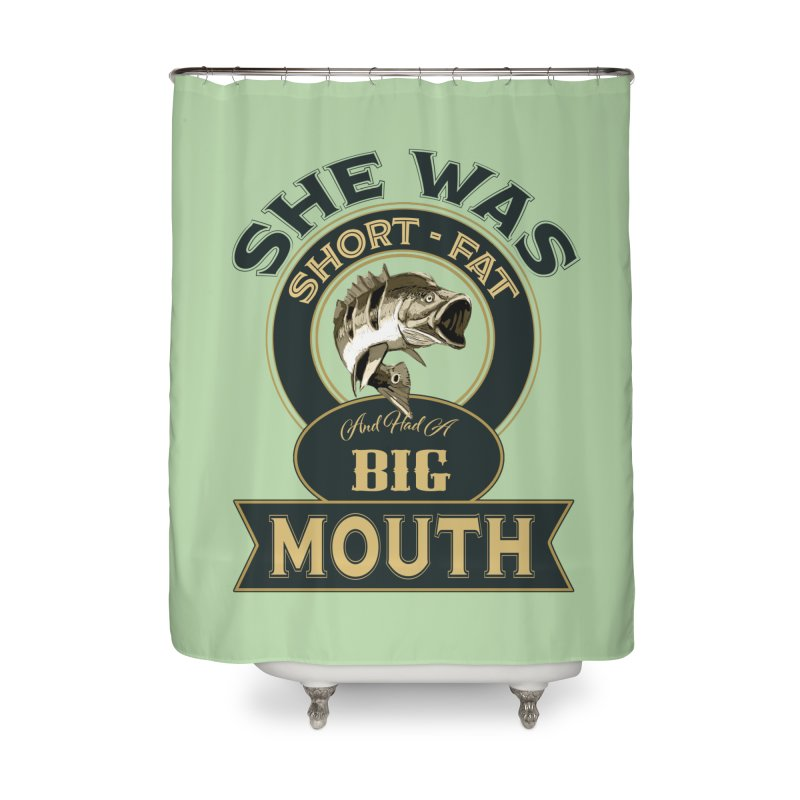 Big Mouth Bass Home Shower Curtain by psweetsdesign's Artist Shop