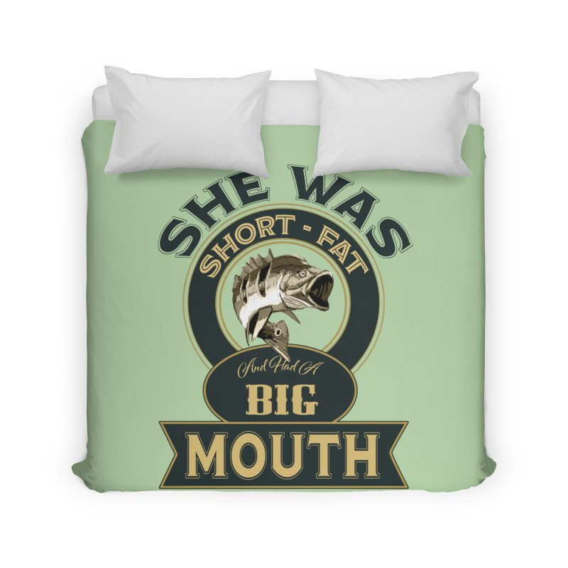 Big Mouth Bass Home Duvet by psweetsdesign's Artist Shop