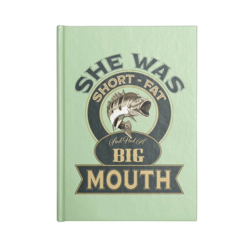 Big Mouth Bass Accessories Blank Journal Notebook by psweetsdesign's Artist Shop