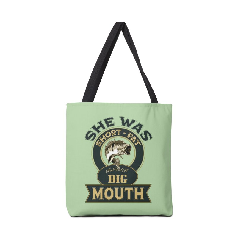 Big Mouth Bass Accessories Bag by psweetsdesign's Artist Shop