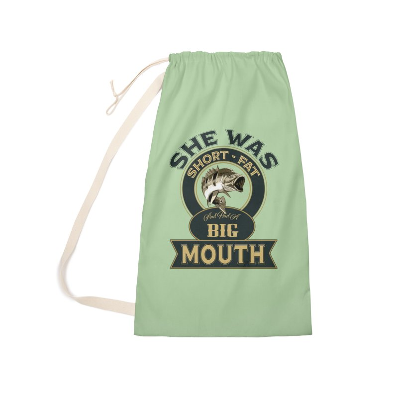 Big Mouth Bass Accessories Laundry Bag Bag by psweetsdesign's Artist Shop