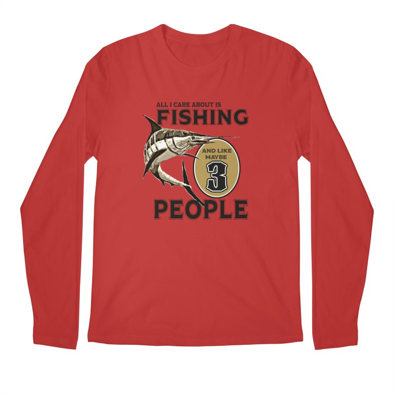are About is FISHING Men's Regular Longsleeve T-Shirt by psweetsdesign's Artist Shop