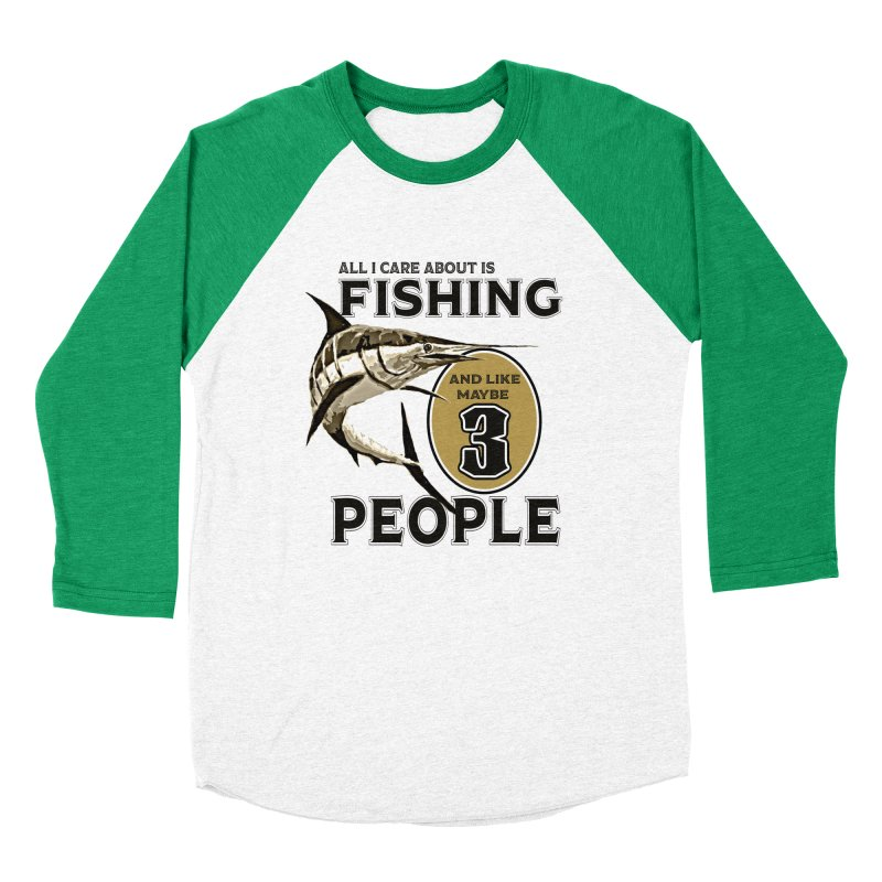 are About is FISHING Men's Baseball Triblend Longsleeve T-Shirt by psweetsdesign's Artist Shop