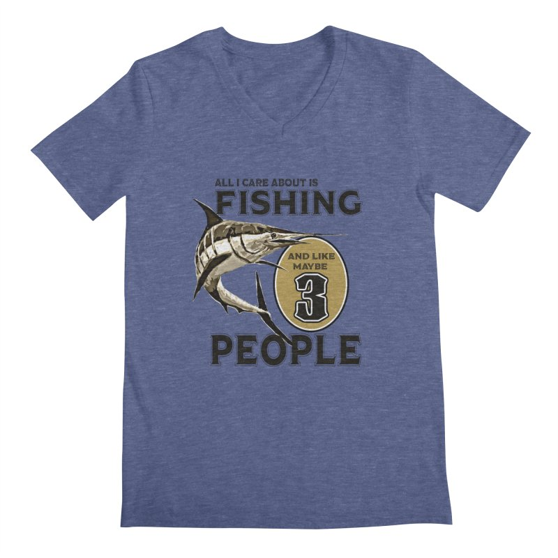 are About is FISHING Men's V-Neck by psweetsdesign's Artist Shop