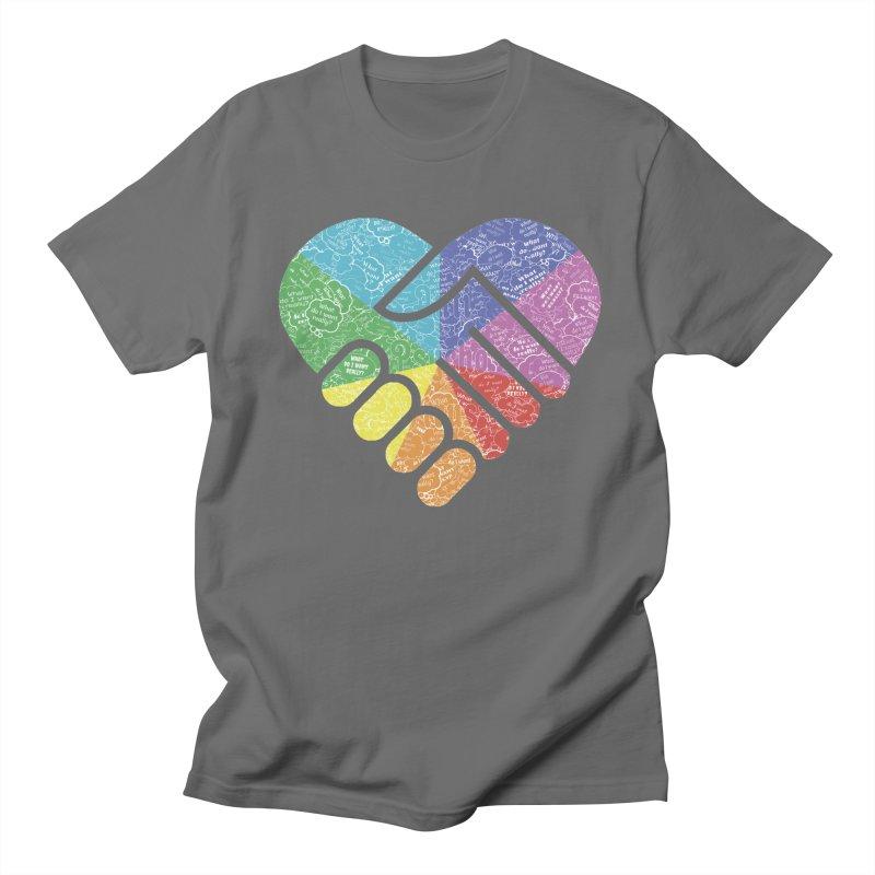 AntiPsychoVirus For Right-handers Men's T-Shirt by #prints with the effect of AntiPsychoVirus
