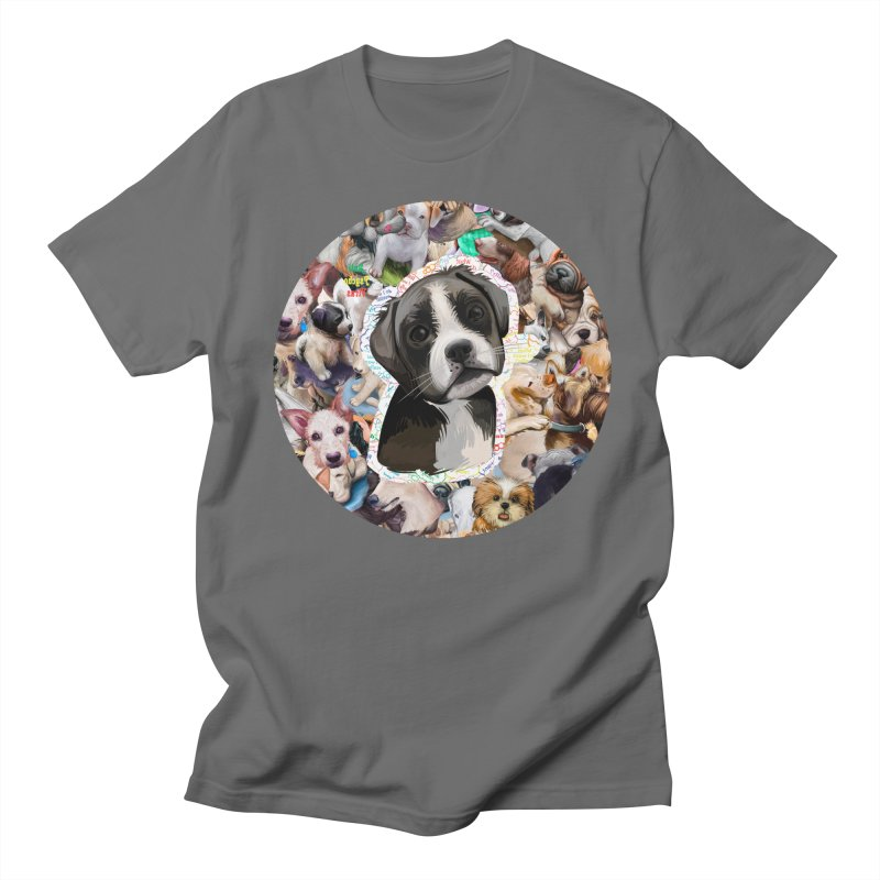 Boxer Puppy Men's T-Shirt by #prints With AntiPsychoVirus Effect