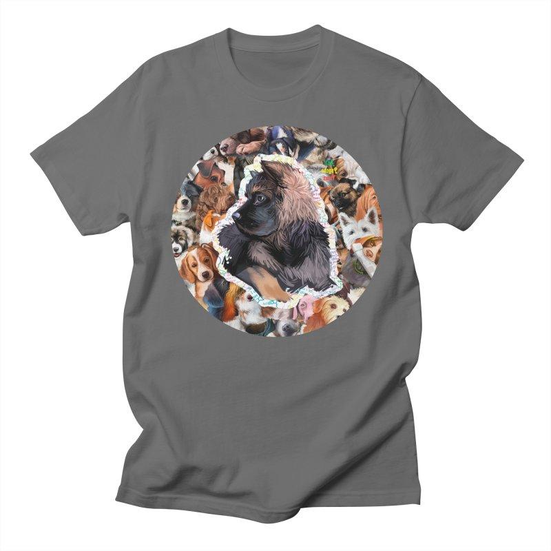 German Shepherd Puppy Men's T-Shirt by #prints With AntiPsychoVirus Effect