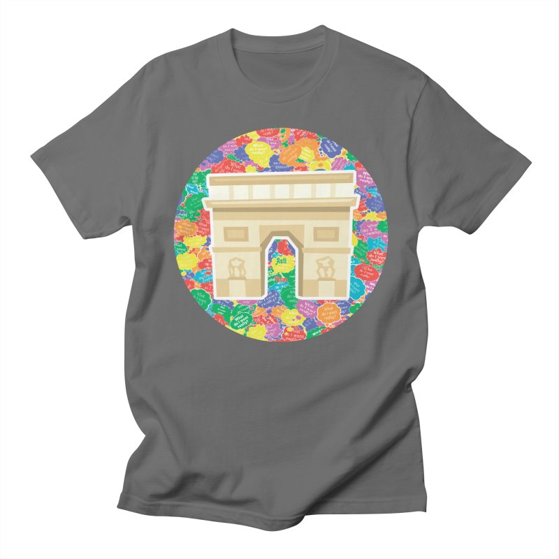 Arc de Triomphe as APV Men's T-Shirt by #prints With AntiPsychoVirus Effect
