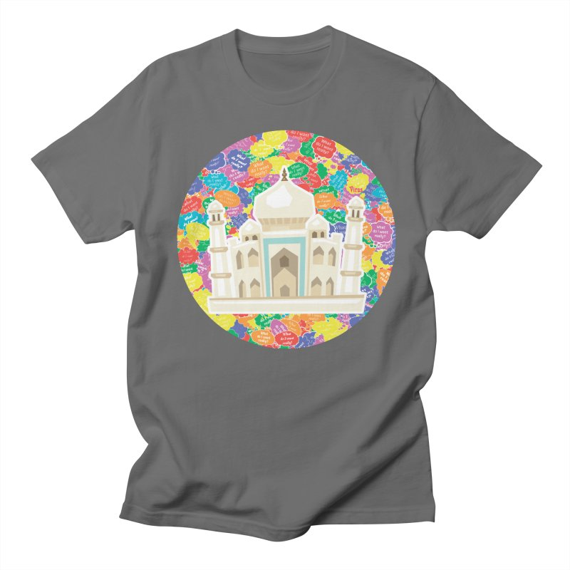 Taj Mahal as APV Men's T-Shirt by #prints With AntiPsychoVirus Effect