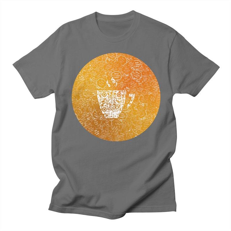 Coffee APV 166Gold Men's T-Shirt by #prints With AntiPsychoVirus Effect