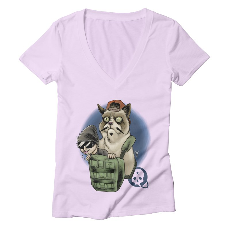 Grumpy Pat Women's Deep V-Neck V-Neck by Poisoning the Well Swag Shop