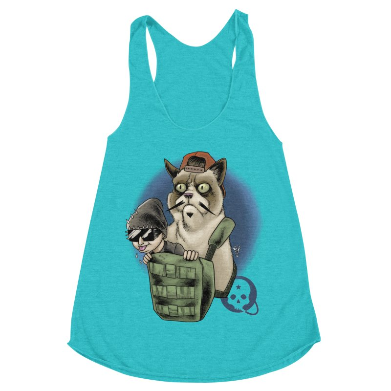 Grumpy Pat Women's Racerback Triblend Tank by Poisoning the Well Swag Shop