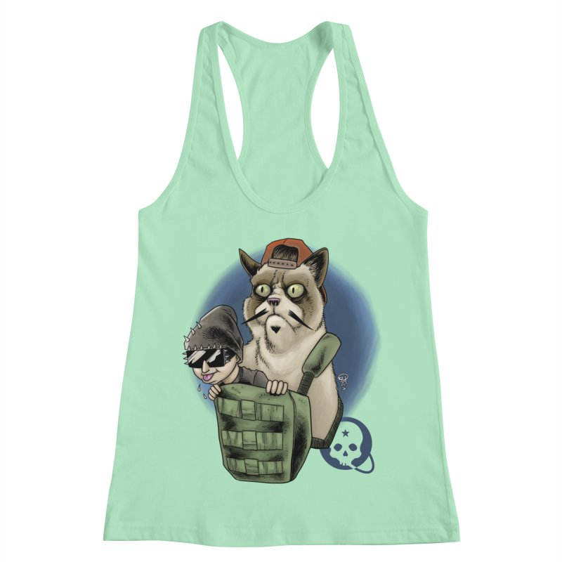 Grumpy Pat Women's Racerback Tank by Poisoning the Well Swag Shop