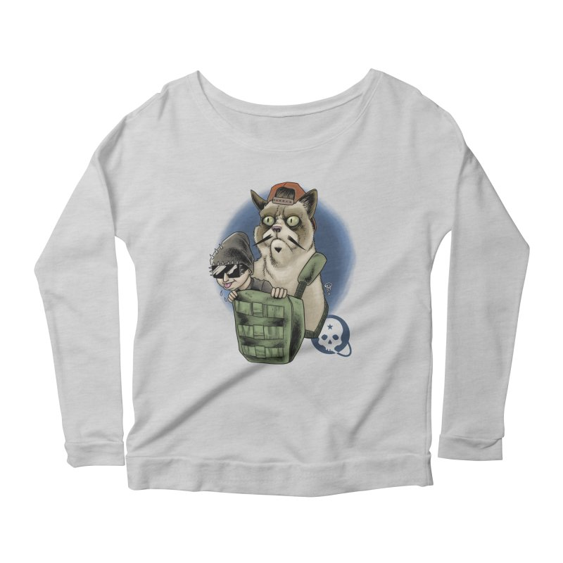 Grumpy Pat Women's Scoop Neck Longsleeve T-Shirt by Poisoning the Well Swag Shop