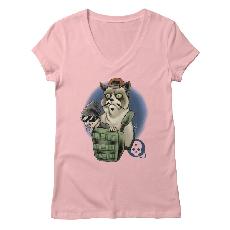 Grumpy Pat Women's Regular V-Neck by Poisoning the Well Swag Shop