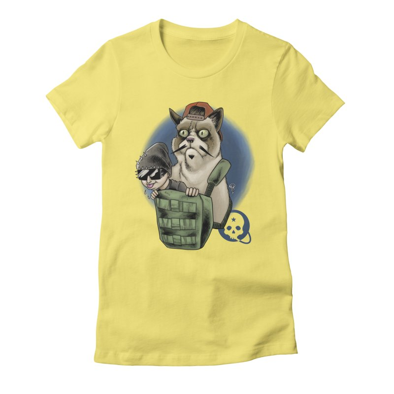 Grumpy Pat Women's Fitted T-Shirt by Poisoning the Well Swag Shop