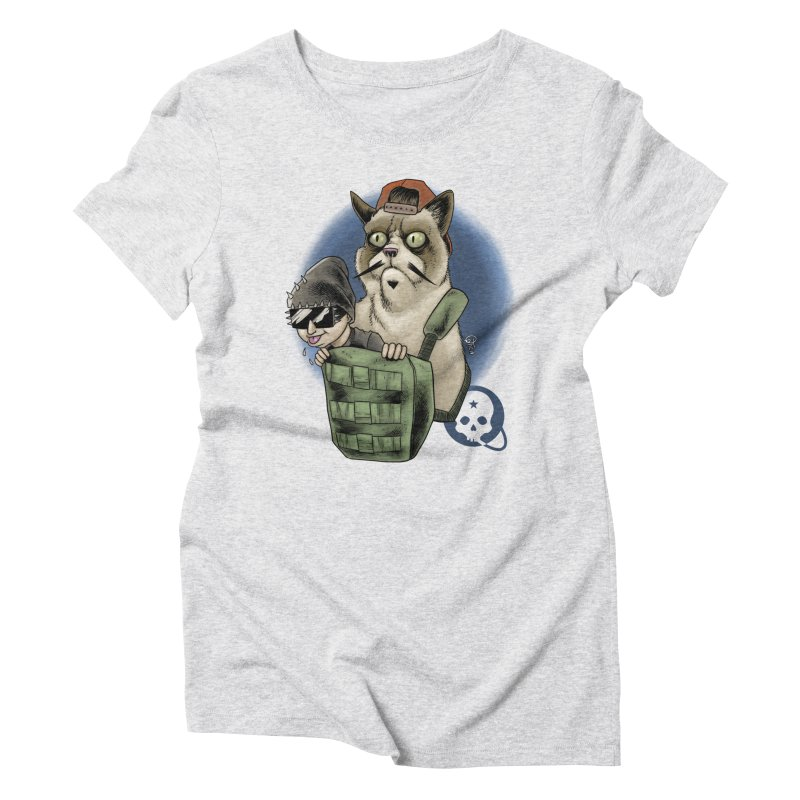 Grumpy Pat Women's Triblend T-Shirt by Poisoning the Well Swag Shop
