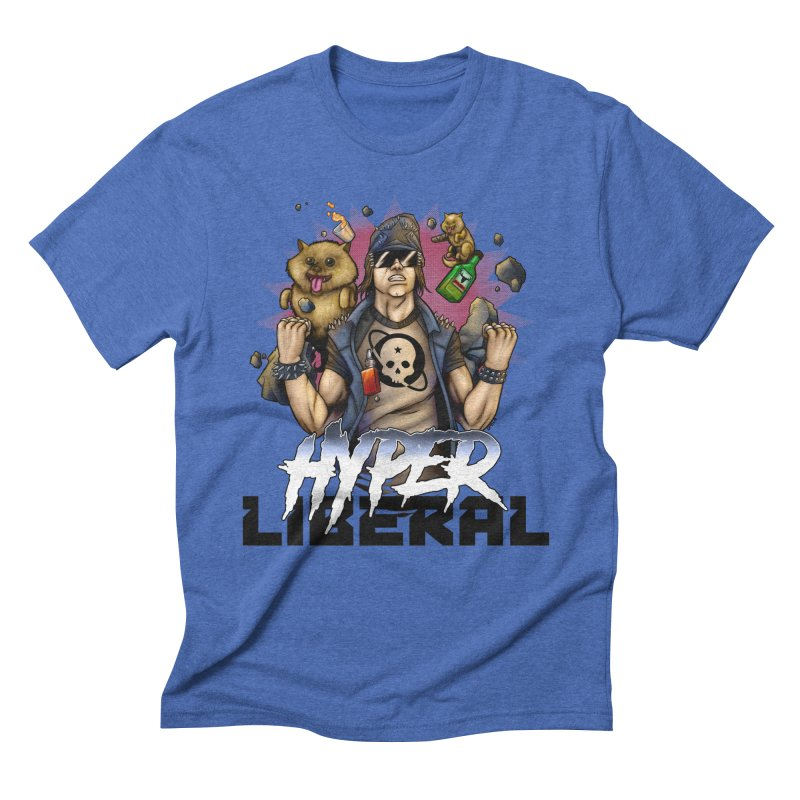 Hyper Liberal Men's Triblend T-Shirt by Poisoning the Well Swag Shop