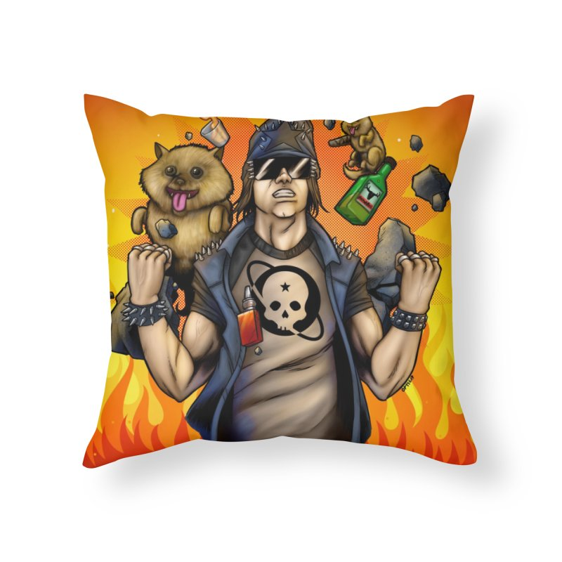 Hyper Liberal Home Throw Pillow by Poisoning the Well Swag Shop