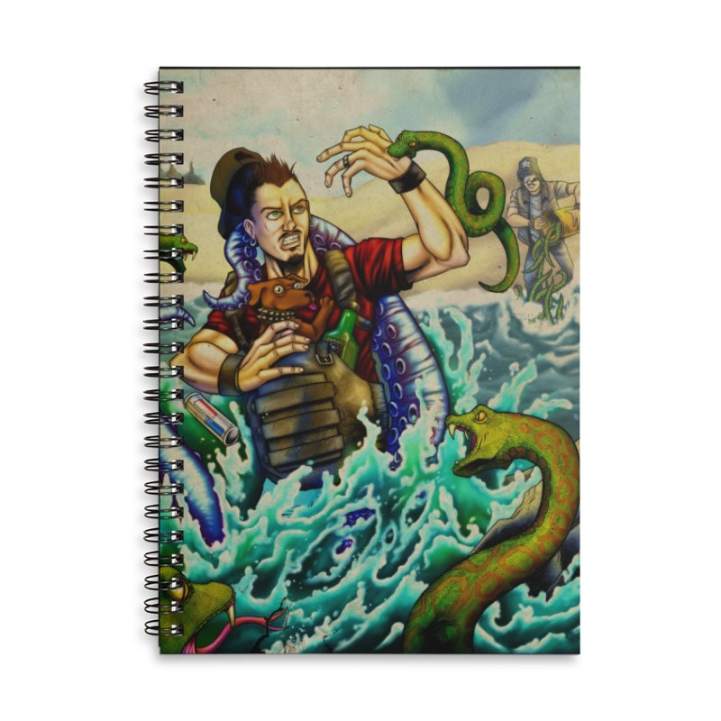 Snakes from a Fain Accessories Lined Spiral Notebook by Poisoning the Well Swag Shop
