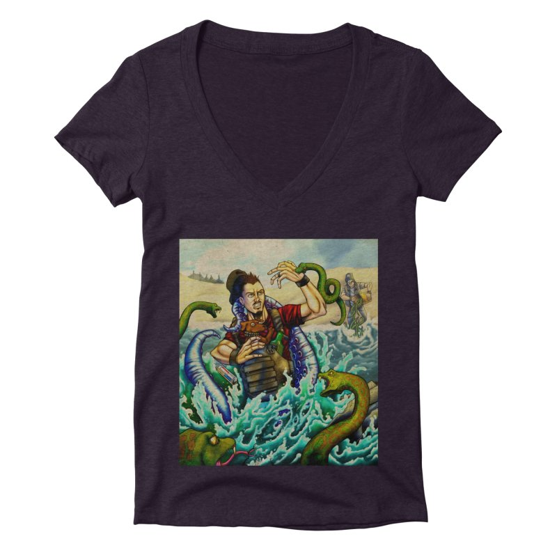 Snakes from a Fain Women's Deep V-Neck V-Neck by Poisoning the Well Swag Shop