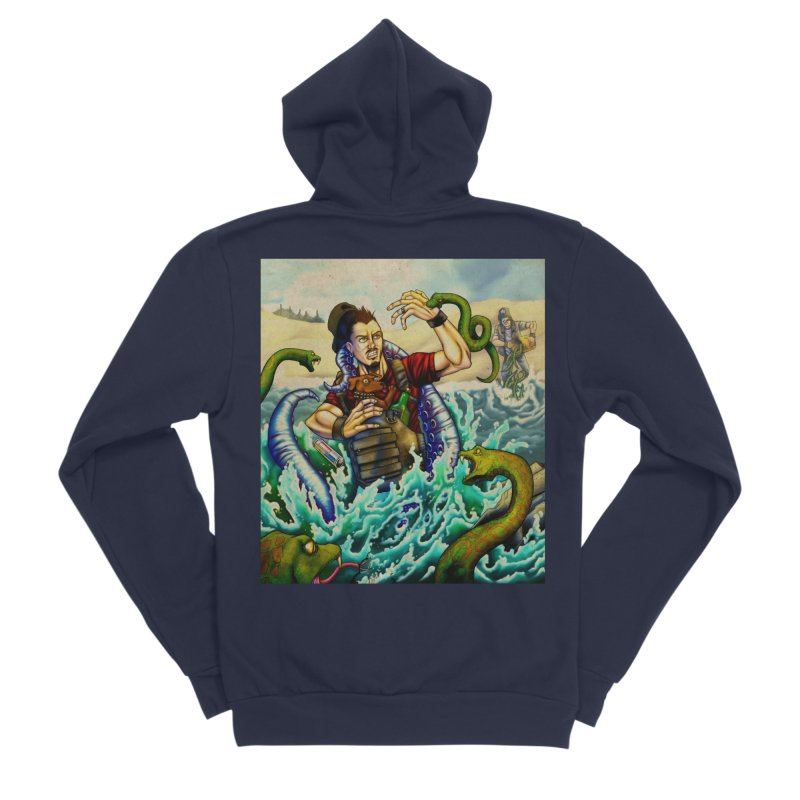 Snakes from a Fain Women's Sponge Fleece Zip-Up Hoody by Poisoning the Well Swag Shop