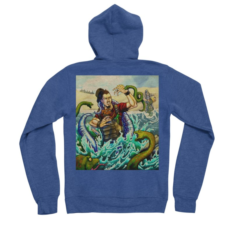 Snakes from a Fain Men's Sponge Fleece Zip-Up Hoody by Poisoning the Well Swag Shop