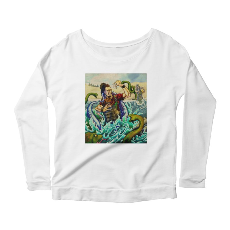 Snakes from a Fain Women's Scoop Neck Longsleeve T-Shirt by Poisoning the Well Swag Shop
