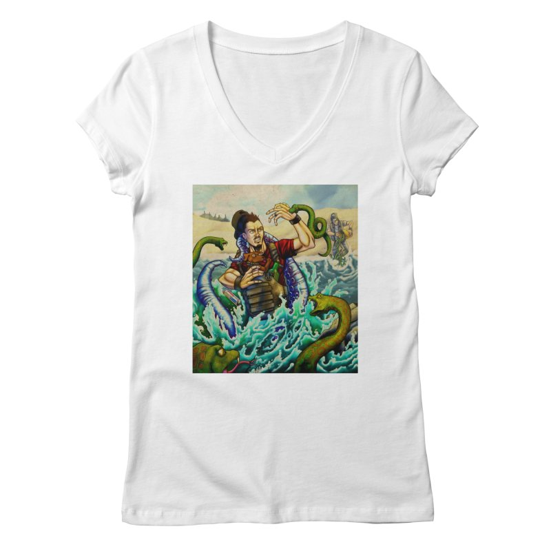 Snakes from a Fain Women's Regular V-Neck by Poisoning the Well Swag Shop