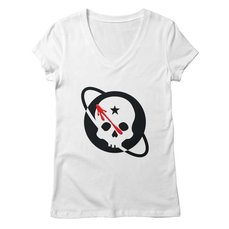 Who Checks Out the Checkout Girl? Women's Regular V-Neck by Poisoning the Well Swag Shop
