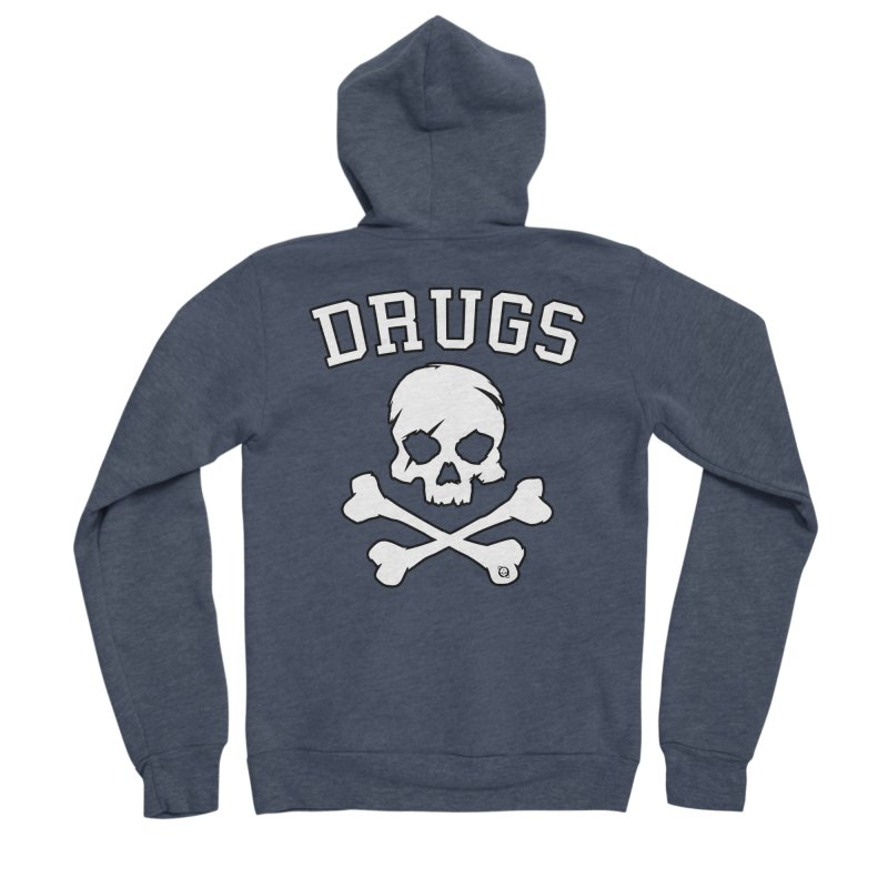 DRUGS Women's Sponge Fleece Zip-Up Hoody by Poisoning the Well Swag Shop