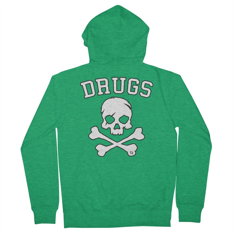 DRUGS Men's Zip-Up Hoody by Poisoning the Well Swag Shop