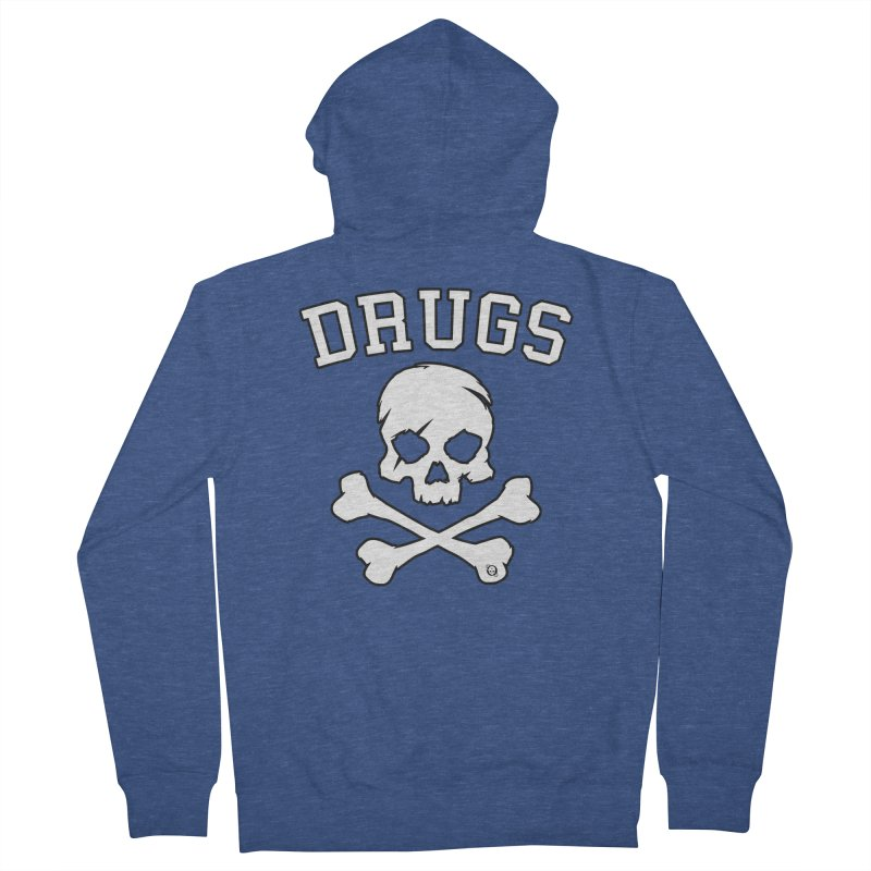DRUGS Men's French Terry Zip-Up Hoody by Poisoning the Well Swag Shop