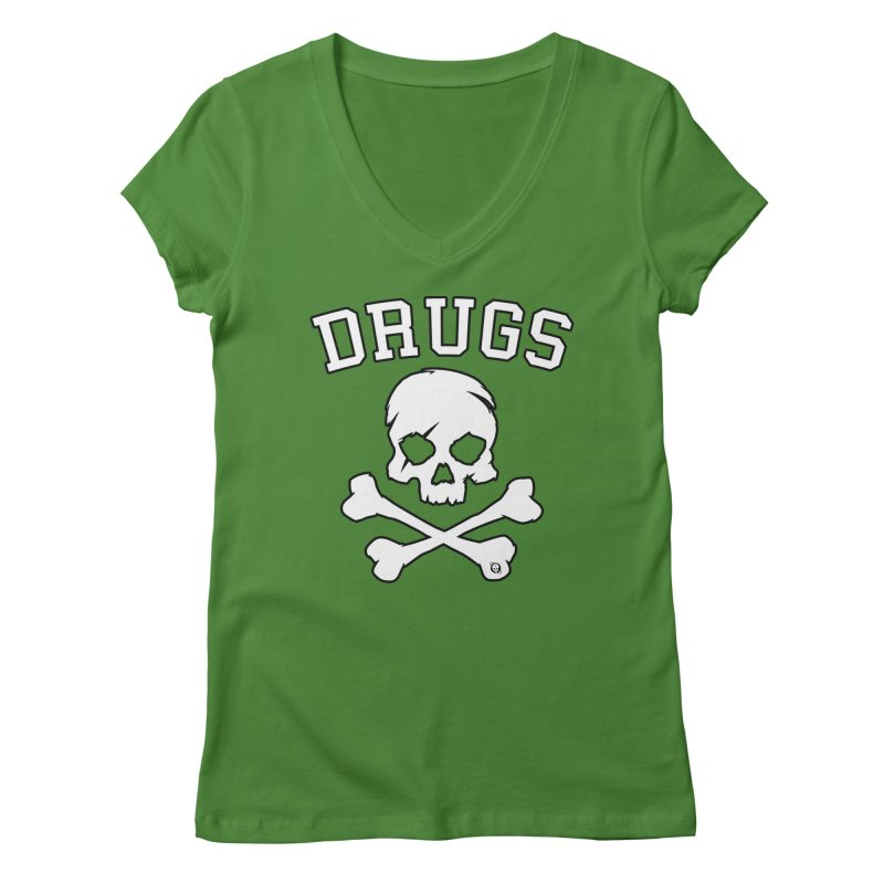 DRUGS Women's Regular V-Neck by Poisoning the Well Swag Shop