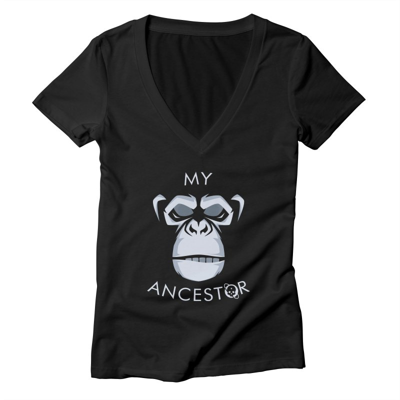 My Ancestor Women's Deep V-Neck V-Neck by Poisoning the Well Swag Shop