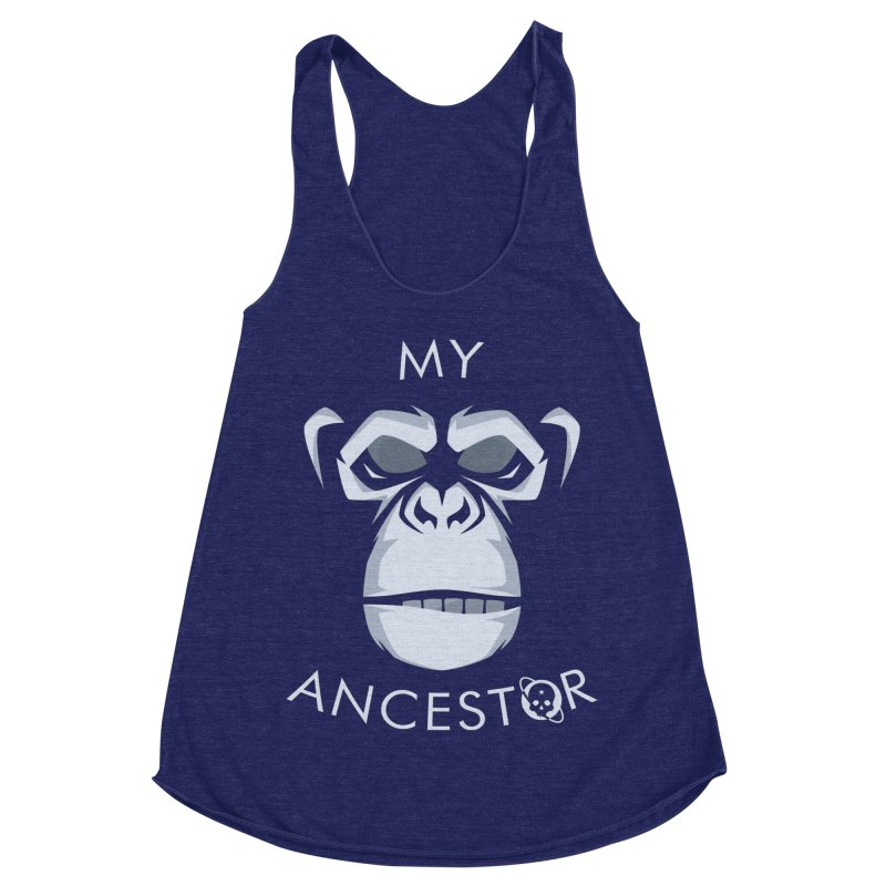 My Ancestor Women's Racerback Triblend Tank by Poisoning the Well Swag Shop