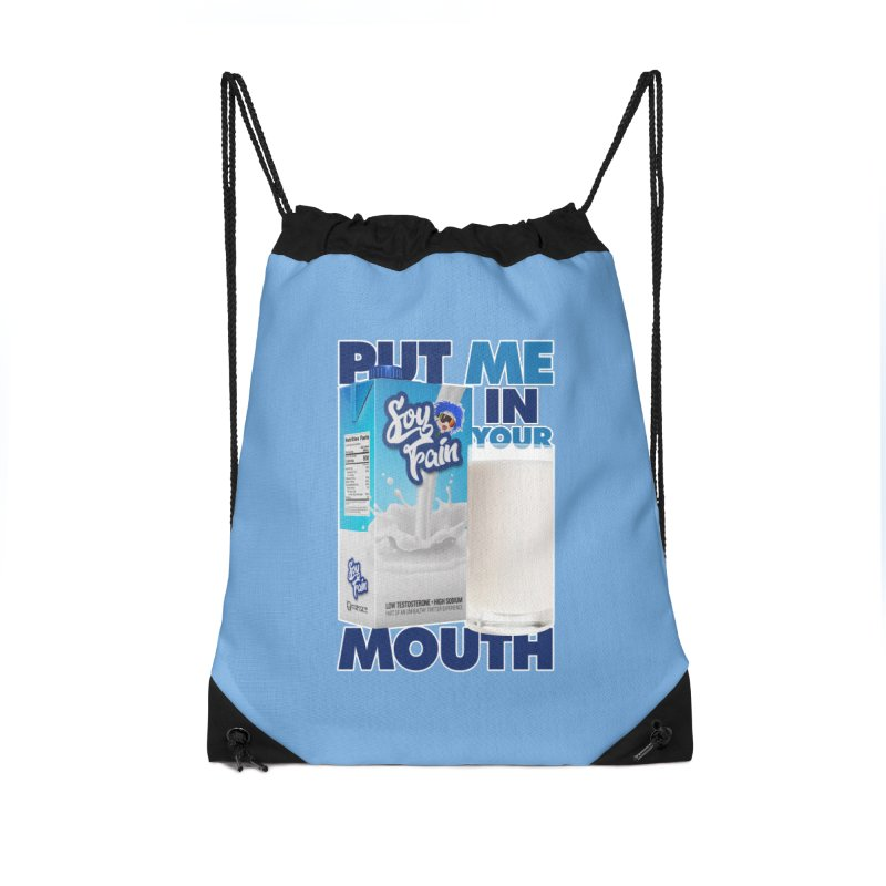 Soy Fain - Put Me in Your Mouth Accessories Drawstring Bag Bag by Poisoning the Well Swag Shop