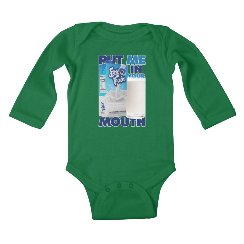 Soy Fain - Put Me in Your Mouth Kids Baby Longsleeve Bodysuit by Poisoning the Well Swag Shop
