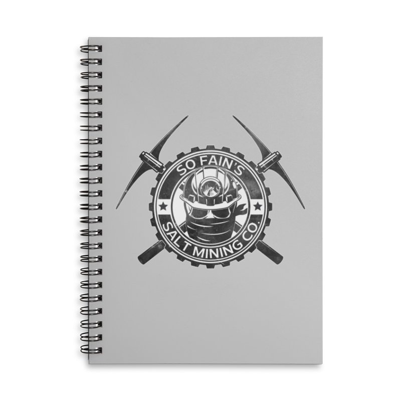 So Fain's Salt Mining Co. Accessories Notebook by Poisoning the Well Swag Shop