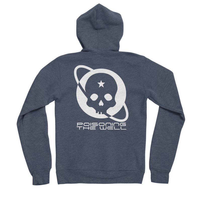White Poisoning The Well 2019 Logo Men's Sponge Fleece Zip-Up Hoody by Poisoning the Well Swag Shop