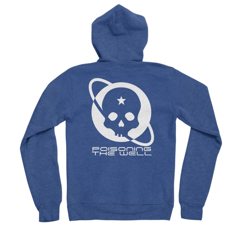 Current Year: A Space Odyssey (White) Men's Sponge Fleece Zip-Up Hoody by Poisoning the Well Swag Shop