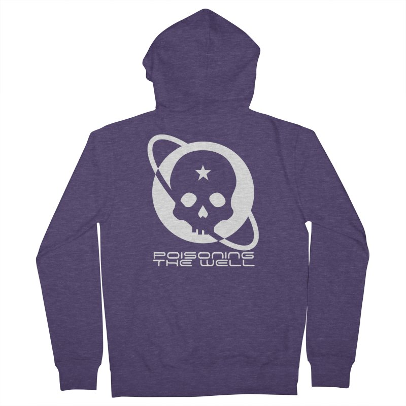 White Poisoning The Well 2019 Logo Men's French Terry Zip-Up Hoody by Poisoning the Well Swag Shop