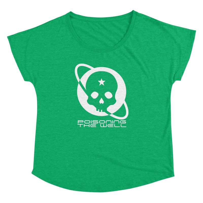 White Poisoning The Well 2019 Logo Women's Dolman Scoop Neck by Poisoning the Well Swag Shop