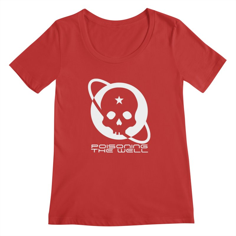 White Poisoning The Well 2019 Logo Women's Regular Scoop Neck by Poisoning the Well Swag Shop