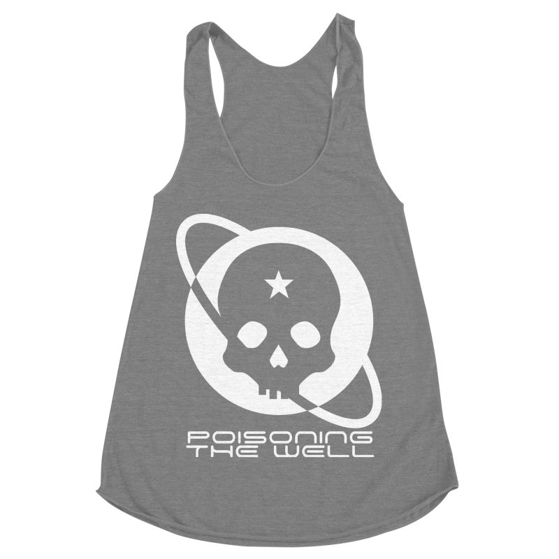 Current Year: A Space Odyssey (White) Women's Racerback Triblend Tank by Poisoning the Well Swag Shop