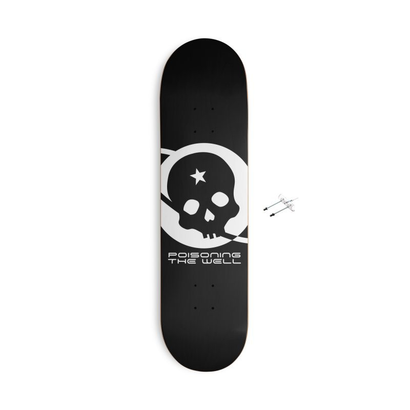 Current Year: A Space Odyssey (White) Accessories With Hanging Hardware Skateboard by Poisoning the Well Swag Shop